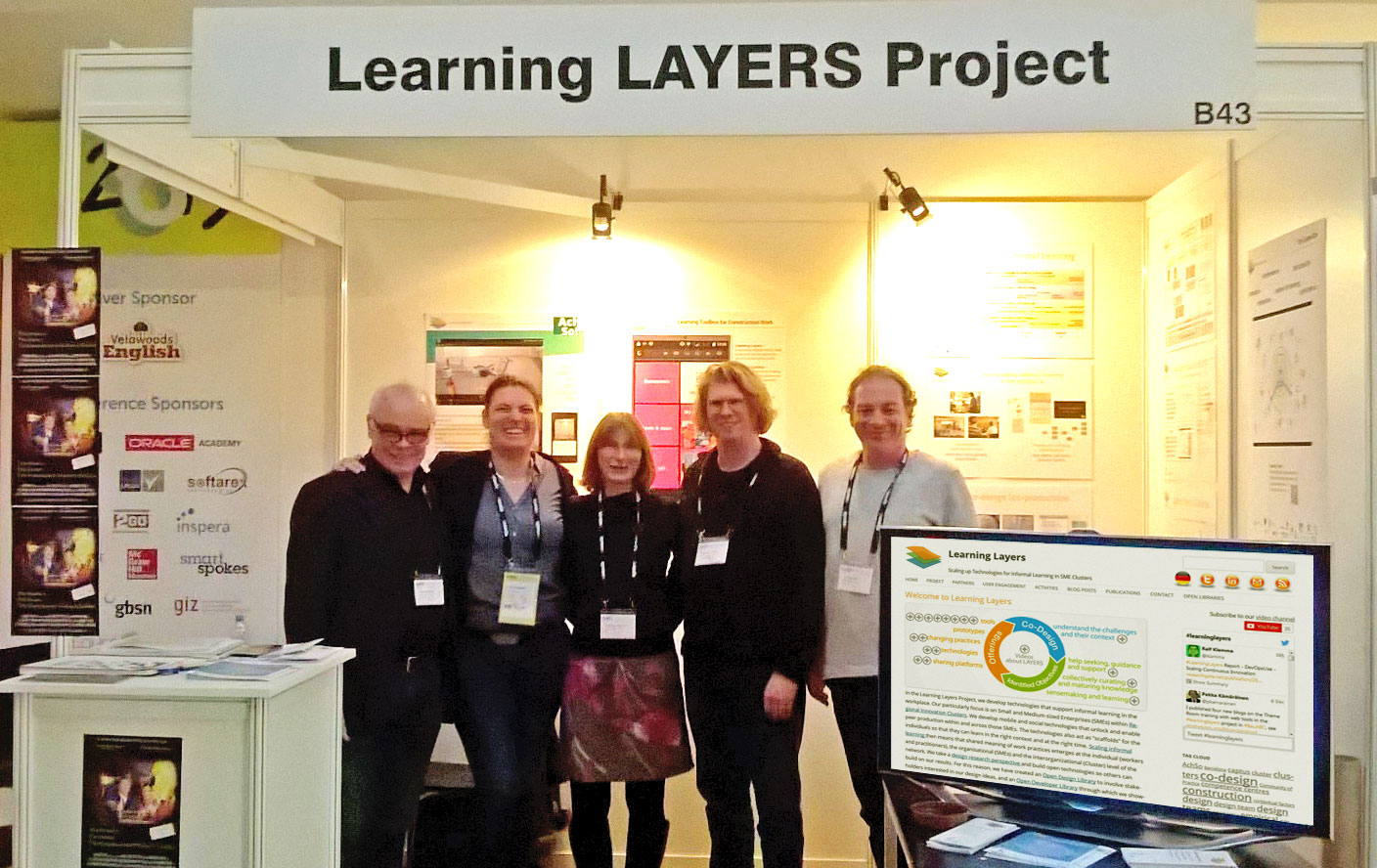Learning Layers-Stand auf der OEB 2015